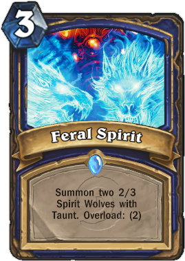 Карта HearthStone Ferral Spirit