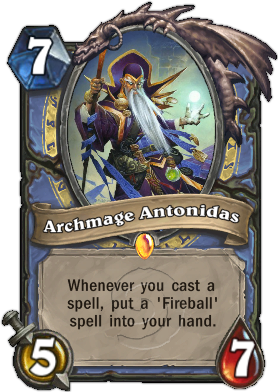 HearthStone Card Archmage Antonidas