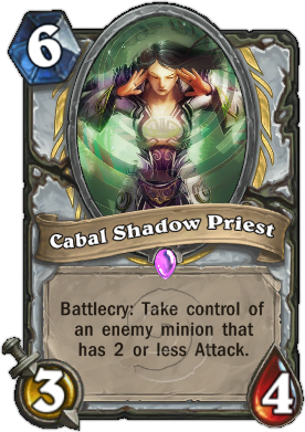 HearthStone Card Cabal Shadow Priest