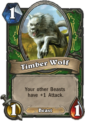 HearthStone Card Timber Wolf