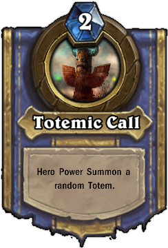 Карта HearthStone Totemic call